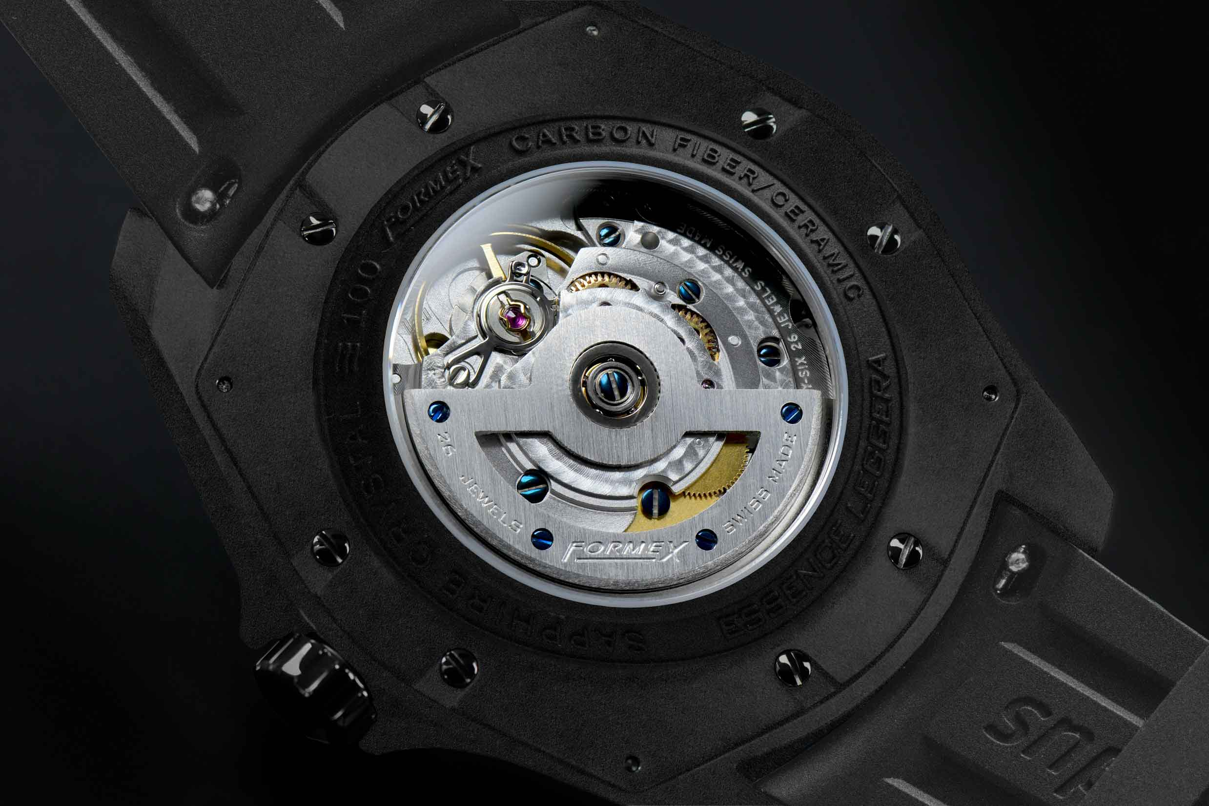 Formex-Essence-LEGGERA-Automatic-Chronometer-FORGED-CARBON-Caseback